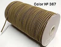 Резинка шляпная 3мм Темно бежевый круглая 100м