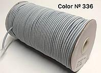 Резинка шляпная 3мм Светло Серый круглая 100м