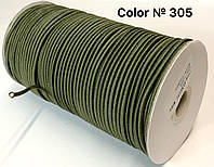 Резинка шляпная 3мм круглая Светлый Хаки 100м