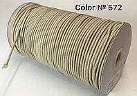 Резинка шляпная 3мм Бежевый круглая 100м