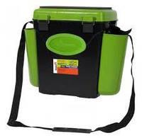 Ящик helios fishbox 10литров 2-кармана оранжевый или зеленый