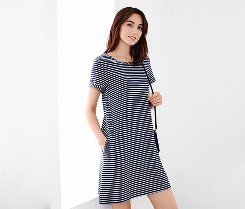 Шикарное фирменное платье из джерси от тсм Tchibo (чибо), Германия, размер 46-50, фото 1