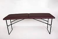 Стол массажный складной искусственная кожа 180/60/75, фото 3