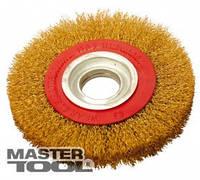 MasterTool  Щетка дисковая из латунированной рифленой проволоки D150*32 мм, Арт.: 19-9215