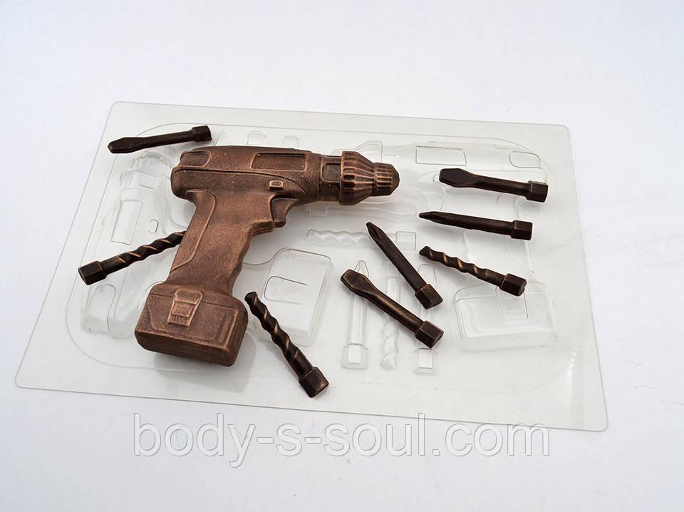 Пластиковая форма для шоколада Шуруповерт