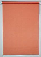 Готовые рулонные шторы 300*1500 Ткань Лён 860 Красно-оранжевый