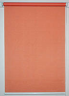 Готовые рулонные шторы 350*1500 Ткань Лён 860 Красно-оранжевый