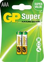 Батарейка GP Super Alkaline LR03 AAA 2 шт. (24A) ( цена указана за 1 шт)