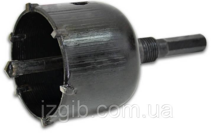 Коронка по бетону, хвостовик шестигранник, Украина 80 мм