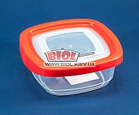 Контейнер 0,4л пищевой 125х125х54мм пластиковый квадратный прозрачный с крышкой Keeper Box Ал-Пластик, фото 1