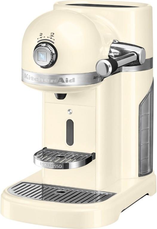 Кофемашина KitchenAid Artisan Nespresso 5KES0503EAC, капсульна, 1.4 л, кремова