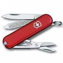 Швейцарський складаний ніж брелок 58 мм Victorinox Classic SD червоний