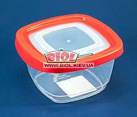 Контейнер 0,55 л харчової 125х125х72мм пластиковий квадратний прозорий з кришкою Keeper Box Ал-Пластик, фото 1