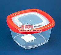Контейнер 0,95л пищевой 146х146х83мм пластиковый квадратный прозрачный с крышкой Keeper Box Ал-Пластик, фото 1