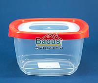 Емкость (судок) пищевая 0,95л 14,6х14,6х8,3см пластиковая с крышкой квадратная Keeper Box Ал-Пластик (Украина)