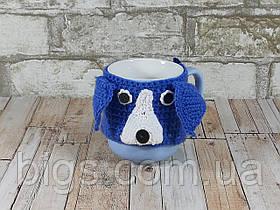 Чашка собачка Лайка 350 мл Синяя