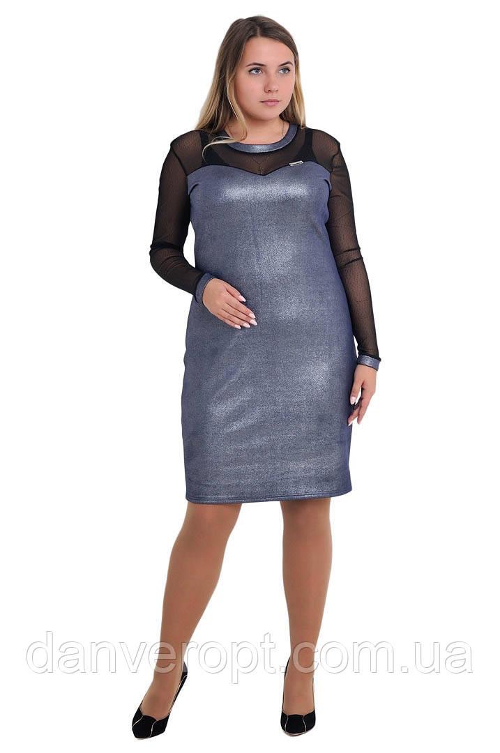 Платье женское модное стильное размер L-3XL купить оптом со склада 7км Одесса