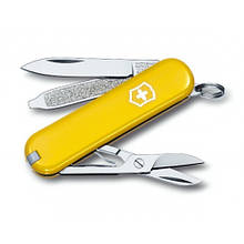 Швейцарський складаний ніж брелок 58 мм Victorinox Classic SD жовтий