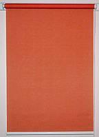 Готовые рулонные шторы 700*1500 Ткань Лён 2095 Терракот
