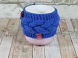 Чашка в вязаном чехле с узором 350 мл Косичка, фото 2