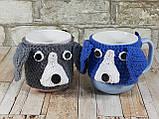 Чашка в вязаном чехле с мишками 350 мл Косичка, фото 6