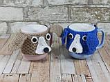 Чашка в вязаном чехле с мишками 350 мл Косичка, фото 7
