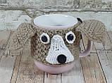 Чашка в вязаном чехле с мишками 350 мл Косичка, фото 8