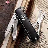 Швейцарский складной нож брелок 58 мм Victorinox Classic SD  черный, фото 2