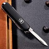 Швейцарський складаний ніж брелок 58 мм Victorinox Classic SD чорний, фото 4