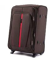 Дорожный чемодан тканевый Wings 1706 средний 2 колеса коричневый