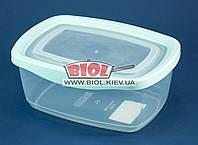 Контейнер 1,35 л харчової 199х143х81мм пластиковий прозорий прямокутний з кришкою Keeper Box Ал-Пластик, фото 1