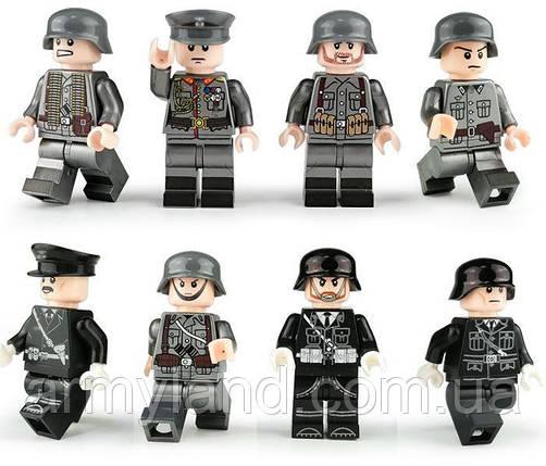 Фигурки военные, Вермахт, коллекция 8шт BrickArms, фото 2