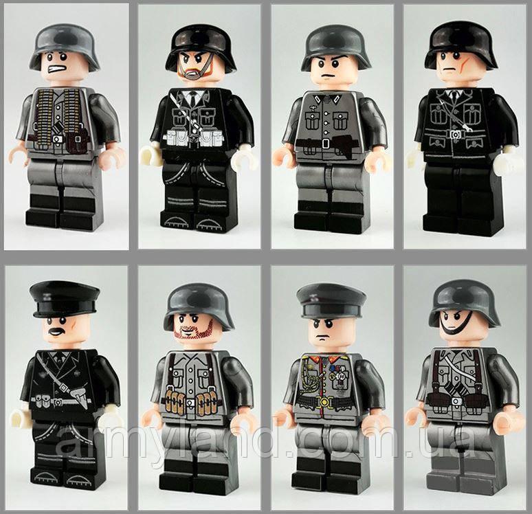 Фигурки военные, Вермахт, коллекция 8шт BrickArms