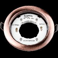 Встраиваемый светильник Ilumia под лампу GX53, Состаренная медь, 105мм (053)