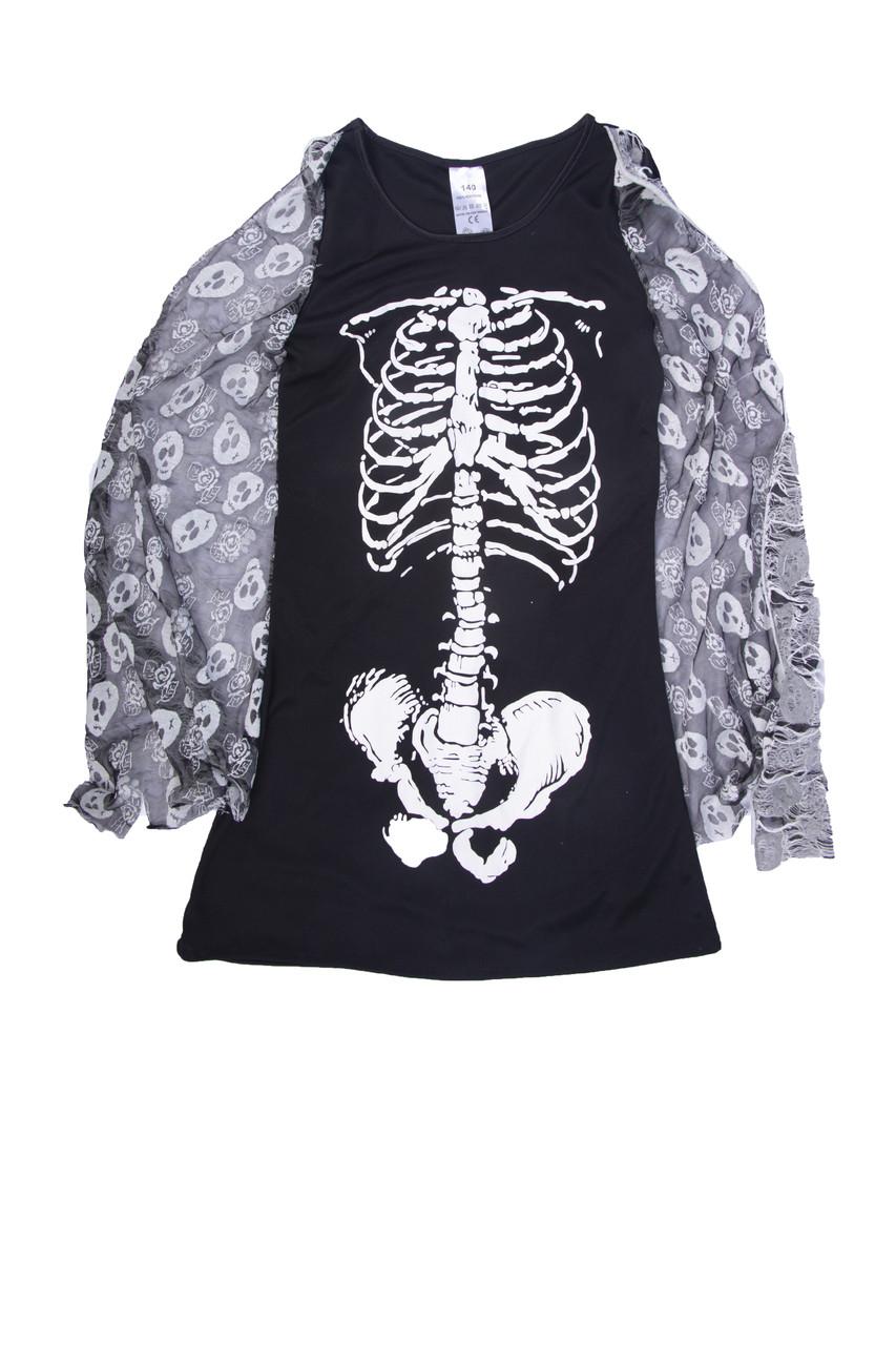 Футболка женская скелет HALLOWEEN рост 164 см