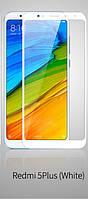 Полноразмерное защитное закаленное стекло Full glue для смартфона Xiaomi Redmi 5 Plus +белая рамка