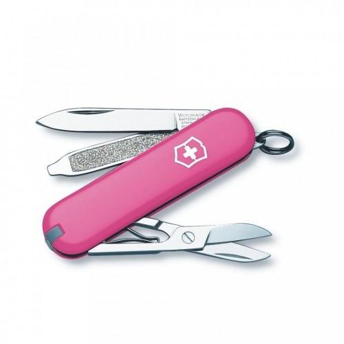 Швейцарський складаний ніж брелок 58 мм Victorinox Classic SD рожевий