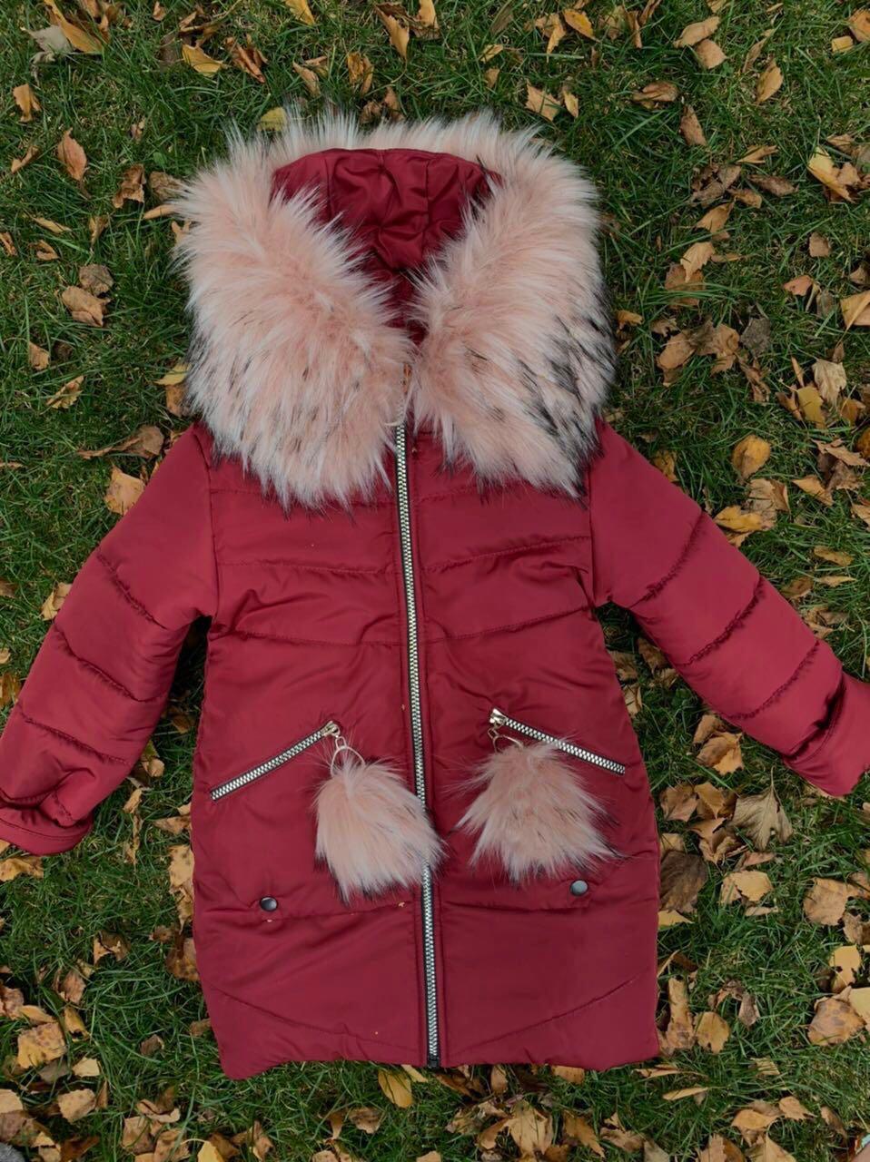 Зимняя детская куртка с красивым мехом