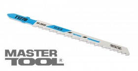 MasterTool  Пильное полотно для лобзика по цветному металлу 5 шт, чистый прямой рез, 8TPI, L 100 мм T127D, Арт.: 14-2815