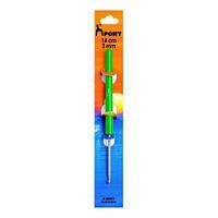Крючок для вязания Pony 14 см,d-2,00 мм