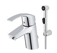 Смеситель для раковины с гигиеническим душем Grohe Eurosmart 23124002, хром  (28864)
