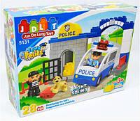 """Детский конструктор JDLT """"Полицейский участок"""" 5131 со звуковыми и световыми эффектами (28 деталей)"""