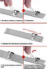 Ремешок Xiaomi Mi Band 4 / 3 Milanese Buckle миланская петля на застежке металлический Серебряный [2241], фото 7
