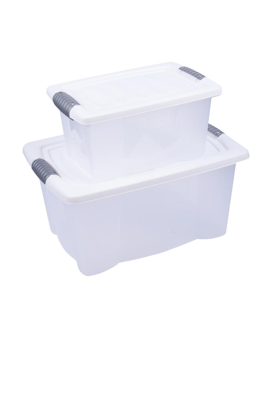 Контейнер для хранения белая крышка 2шт