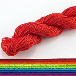 (20 метров) Шнур капроновый (шамбала) 1мм Цвет- Красный (сп7нг-2332)