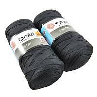 Турецкая пряжа для вязания YarnArt Ribbon ( риббон ) для сумок, ковриков , корзин - 750 черный