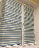 Ролета День-Ночь Рио голубой/салатовый, фото 4