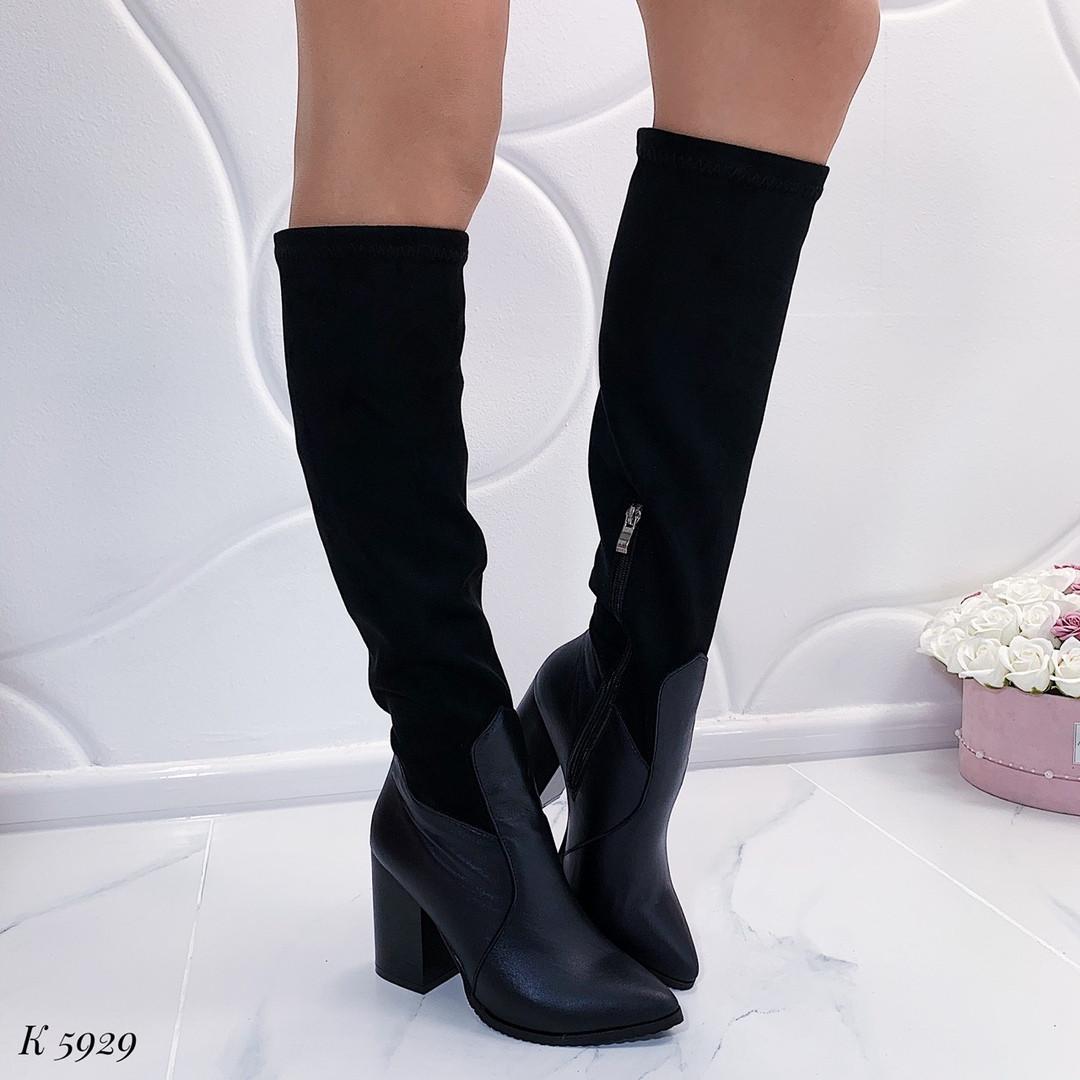Черные женские сапоги