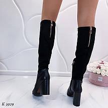Черные женские сапоги, фото 3