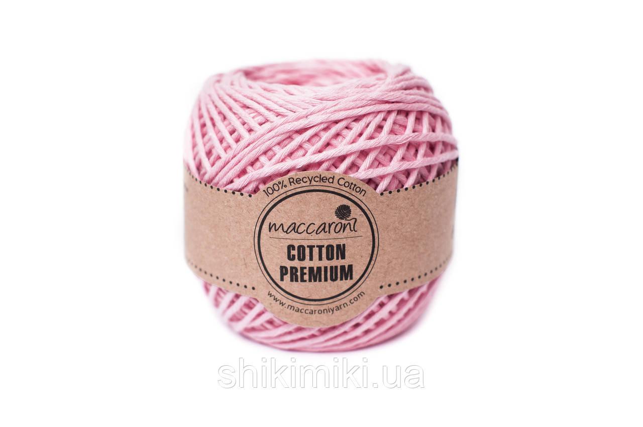 Эко шнур Maccaroni Cotton Premium 2 мм, цвет розовый